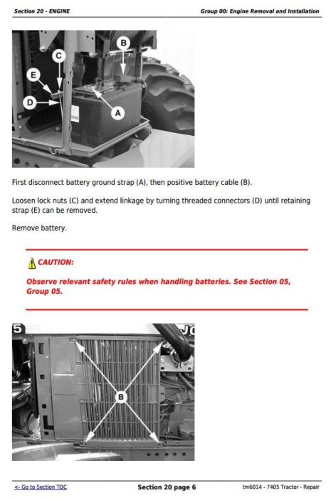 Fourth Additional product image for - John Deere 7405 Tractor Service Repair Technical Manual (tm6014)