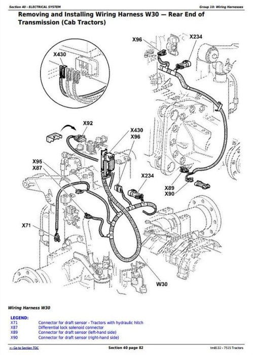 Second Additional product image for - John Deere 7515 2WD or MFWD Tractors Service Repair Technical Manual (tm8132)