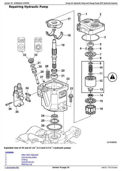 Third Additional product image for - John Deere 7515 2WD or MFWD Tractors Service Repair Technical Manual (tm8132)