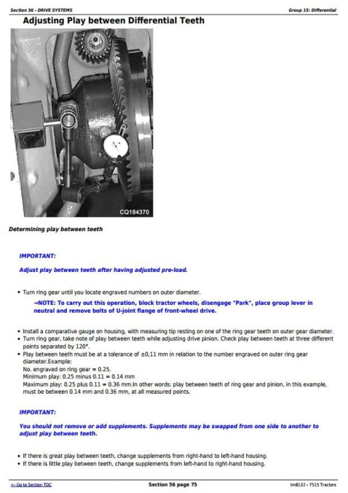 Fourth Additional product image for - John Deere 7515 2WD or MFWD Tractors Service Repair Technical Manual (tm8132)