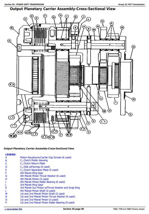 Second Additional product image for - John Deere 7600, 7700 and 7800 , 2WD or MFWD Tractors Service Repair Technical Manual (tm1500)