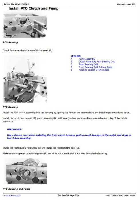 Third Additional product image for - John Deere 7600, 7700 and 7800 , 2WD or MFWD Tractors Service Repair Technical Manual (tm1500)