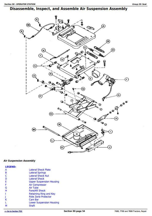 Fourth Additional product image for - John Deere 7600, 7700 and 7800 , 2WD or MFWD Tractors Service Repair Technical Manual (tm1500)