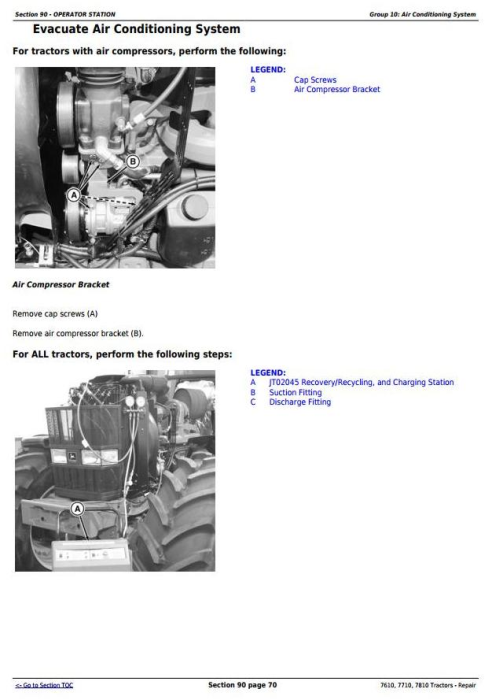 Fourth Additional product image for - John Deere 7610, 7710, 7810 2WD or MFWD Tractors Service Repair Technical Manual (TM1651)