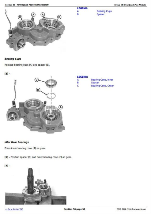 Third Additional product image for - John Deere 7720, 7820, 7920 Tractors Service Repair Technical Manual (TM2080)