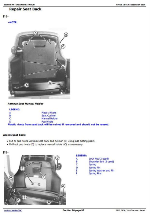 Fourth Additional product image for - John Deere 7720, 7820, 7920 Tractors Service Repair Technical Manual (TM2080)