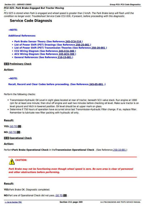 Third Additional product image for - John  Deere 8110, 8210, 8310 and 8410 Tractors Diagnostic and Test Service Manual (tm1796)