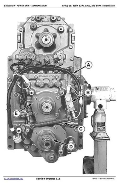 Second Additional product image for - John Deere 8100, 8200, 8300, 8400, 8110, 8210, 8310, 8410 Tractors Service Repair Technical Manual TM1575
