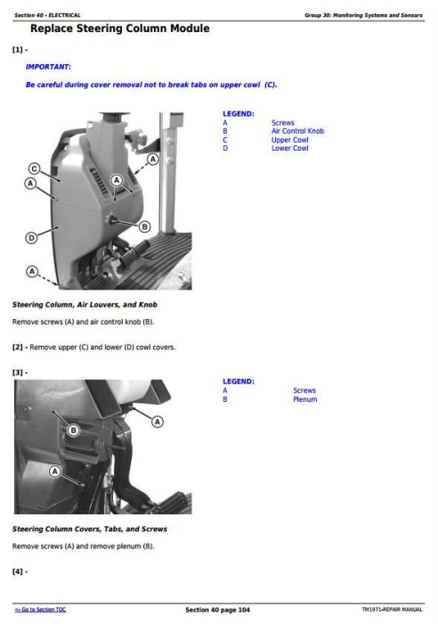 Second Additional product image for - John Deere 8120T, 8220T, 8320T, 8420T & 8520T Tracks Tractors Service Repair Manual (TM1971)
