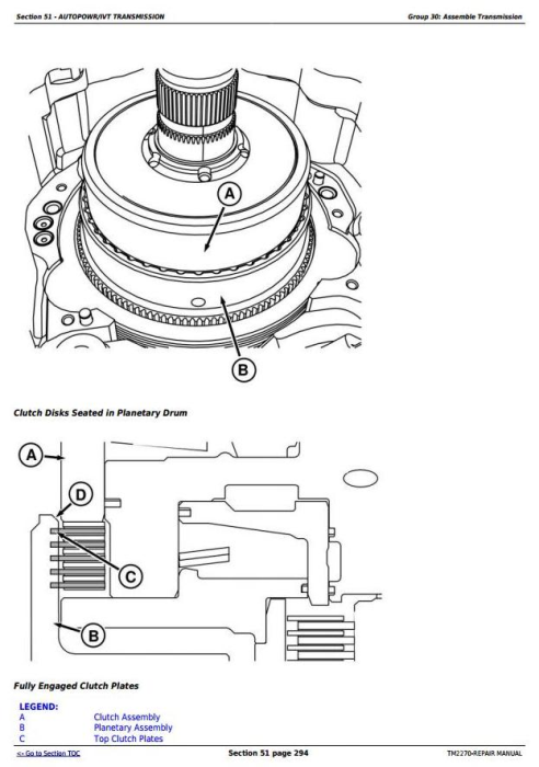 Second Additional product image for - John Deere 8130, 8230, 8330, 8430 and 8530 2WD or MFWD Tractors Service Repair Manual (TM2270)