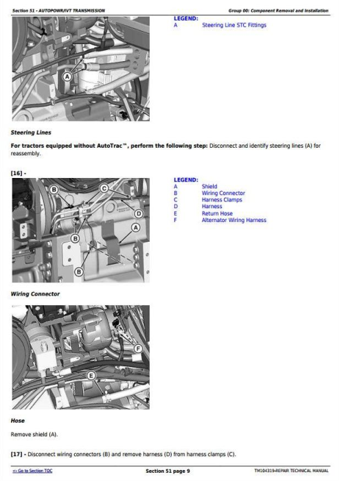 Second Additional product image for - John Deere 8225R, 8245R, 8270R, 8295R, 8320R, 8345R Tractors Service Repair Technical Manual (TM104319)