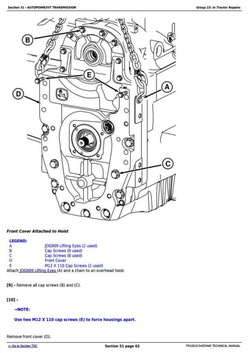 Third Additional product image for - John Deere 8225R, 8245R, 8270R, 8295R, 8320R, 8345R Tractors Service Repair Technical Manual (TM104319)