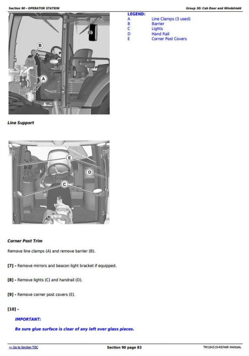 Fourth Additional product image for - John Deere 8295RT, 8320RT, 8345RT (SN. before 902500) Tractors Service Repair Technical Manual (TM104519)