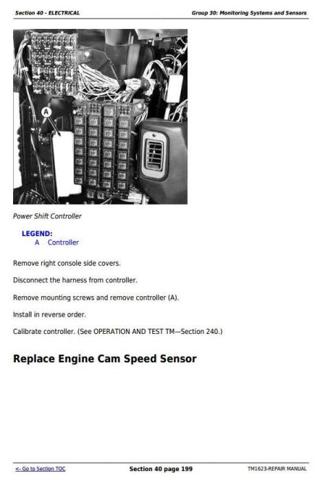 Fourth Additional product image for - John Deere 9100, 9200, 9300, 9400, 9120, 9220, 9320, 9420, 9520, 9620 Tractors Repair Manual (TM1623)