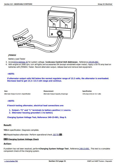Second Additional product image for - John Deere 9300T and 9400T Tracks Tractors Diagnosis and Tests Service Manual (tm1783)