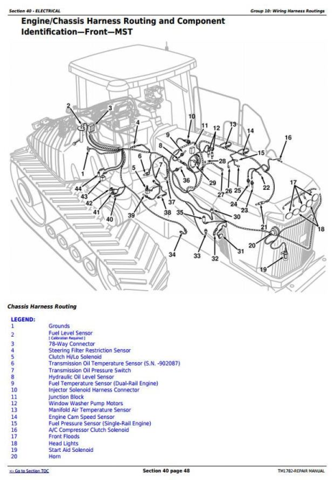 Second Additional product image for - John Deere 9300T, 9400T, 9320T, 9420T, 9520T, 9620T Tracks Tractors Service Repair Manual (TM1782)