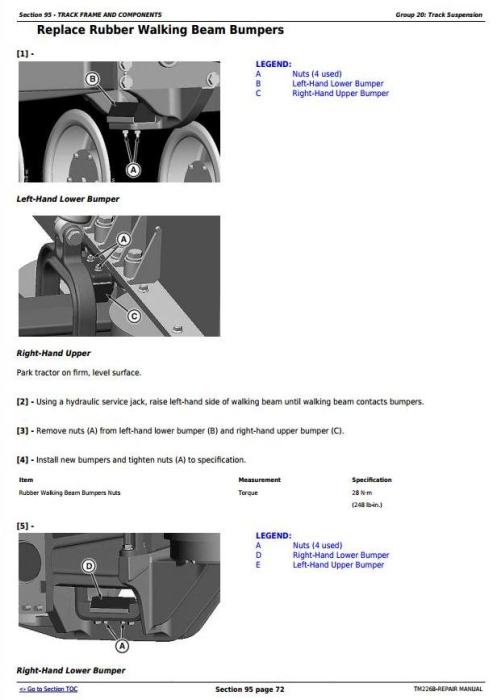 Third Additional product image for - John Deere 9430T, 9530T, and 9630T Tracks Tractors Service Repair Manual (TM2268)