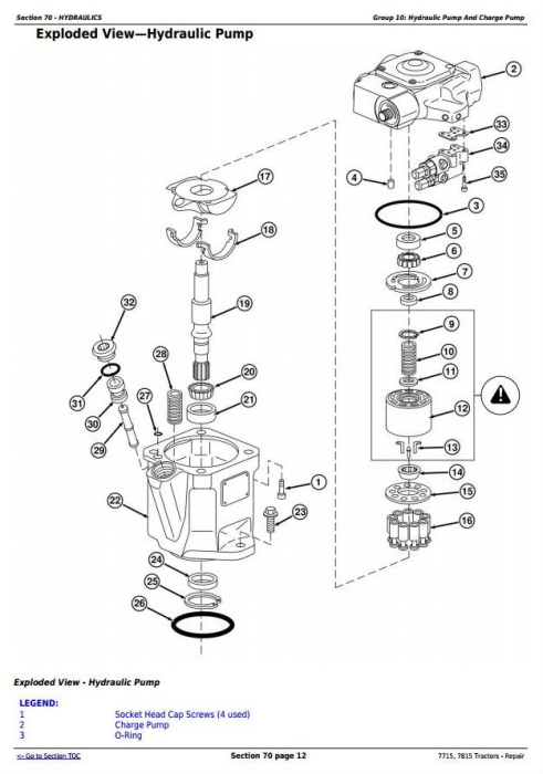 Fourth Additional product image for - John Deere 7715, 7815 Tractors (SN. from 070001) Service Repair Technical Manual (tm2190)
