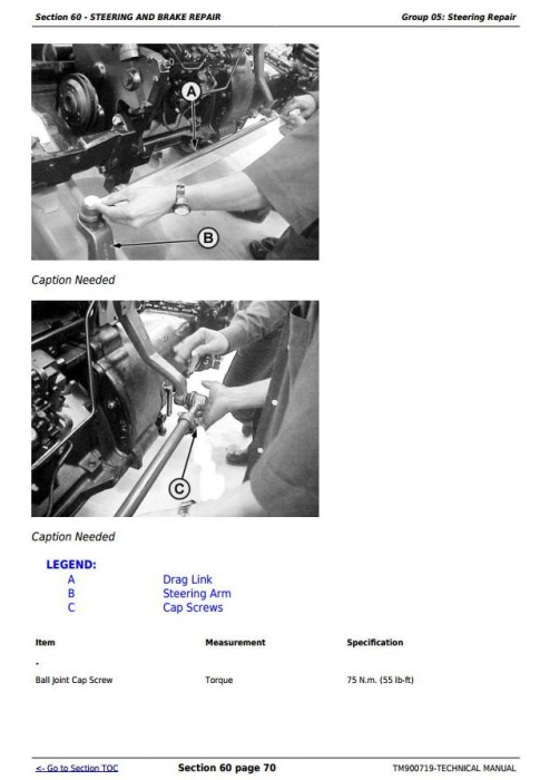 Second Additional product image for - Deere 5036D, 5038D, 5039D, 5042D, 5045D, 5047D, 5050D, 5105, 5305 Tractors Technical Manual TM900719