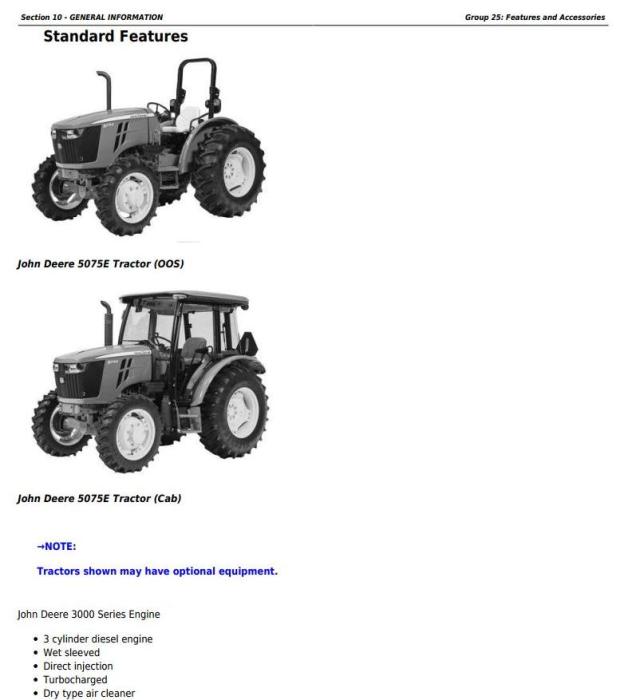 First Additional product image for - 5045E, 5055E, 5065E & 5075E (FT4) North America Tractors Service Repair Manual (TM901519)