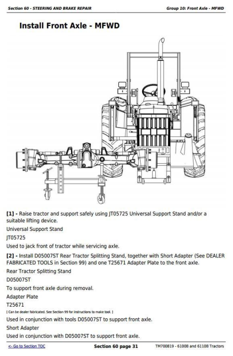 Third Additional product image for - 6100B and 6110B China Tractors Service Repair Manual (TM700819)