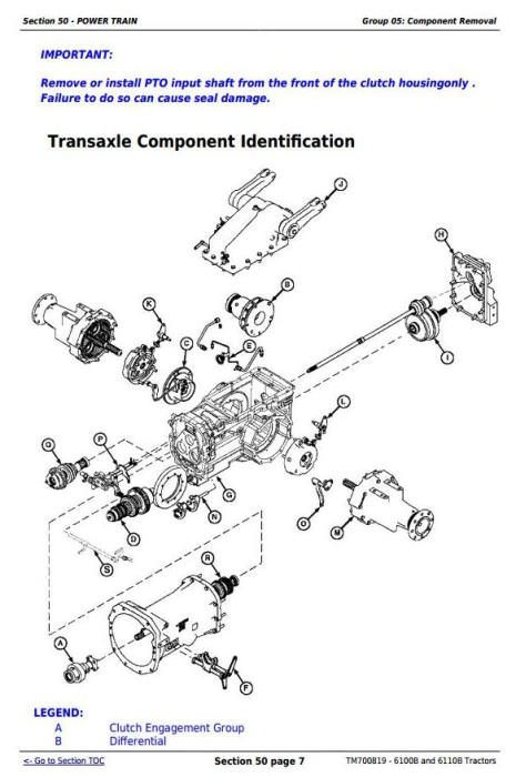 Fourth Additional product image for - 6100B and 6110B China Tractors Service Repair Manual (TM700819)