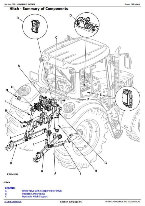 First Additional product image for - John Deere 6105J, 6105JH, 6140J, 6140JH, 6155J & 6155JH Tractors Diagnosis and Tests (TM609419)