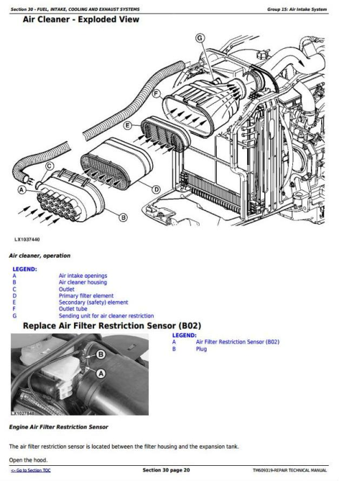 Second Additional product image for - John Deere 6105J, 6140J, 6140JH, 6155J, 6155JH Mexican Edition Tractors Repair Manual (TM609319)