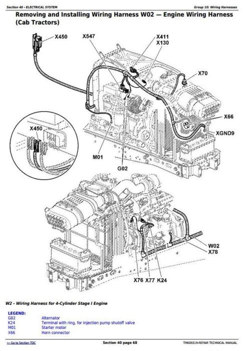 Third Additional product image for - John Deere 6105J, 6140J, 6140JH, 6155J, 6155JH Mexican Edition Tractors Repair Manual (TM609319)