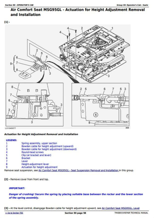 Fourth Additional product image for - John Deere 6145R, 6155R, 6155RH, 6175R, 6195R, 6215R Tractors Repair Technical Manual (TM406919)