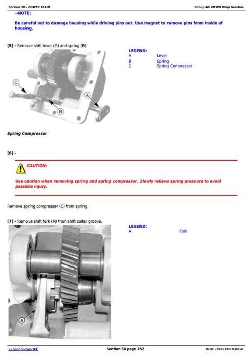 Second Additional product image for - John Deere JD954, JD1104, JD1204, JD1354, 6095B, 6110B, 6135B, 6140B Tractors Repair Manual (TM701719)