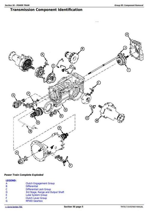 Third Additional product image for - John Deere JD954, JD1104, JD1204, JD1354, 6095B, 6110B, 6135B, 6140B Tractors Repair Manual (TM701719)