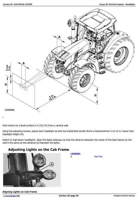 Second Additional product image for - John Deere 6110M, 6120M, 6130M, 6135M, 6140M, 6145M Tractors Service Repair Manual (TM408519)