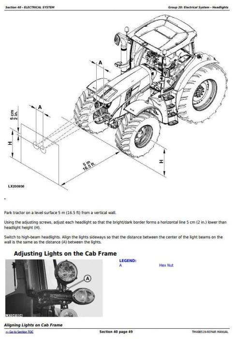 Second Additional product image for - John Deere 6110M, 6120M, 6130M, 6135M, 6140M, 6145M Tractors Service Repair Manual (TM408519)