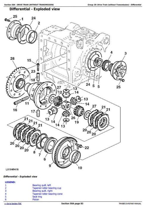 Third Additional product image for - John Deere 6110M, 6120M, 6130M, 6135M, 6140M, 6145M Tractors Service Repair Manual (TM408519)