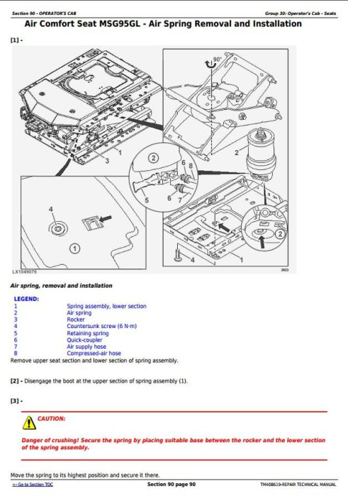 Second Additional product image for - John Deere Tractors Models 6145M, 6155M, 6175M, 6195M Tier 2 Service Repair Technical Manual (TM408619)