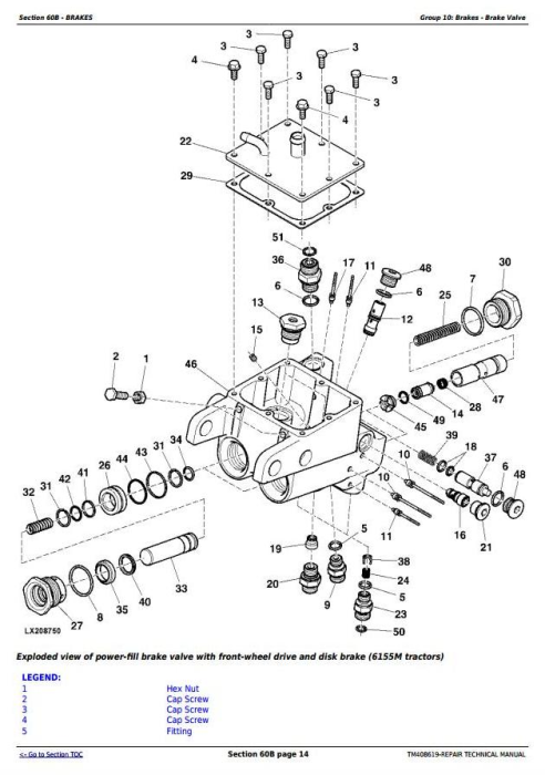 Third Additional product image for - John Deere Tractors Models 6145M, 6155M, 6175M, 6195M Tier 2 Service Repair Technical Manual (TM408619)