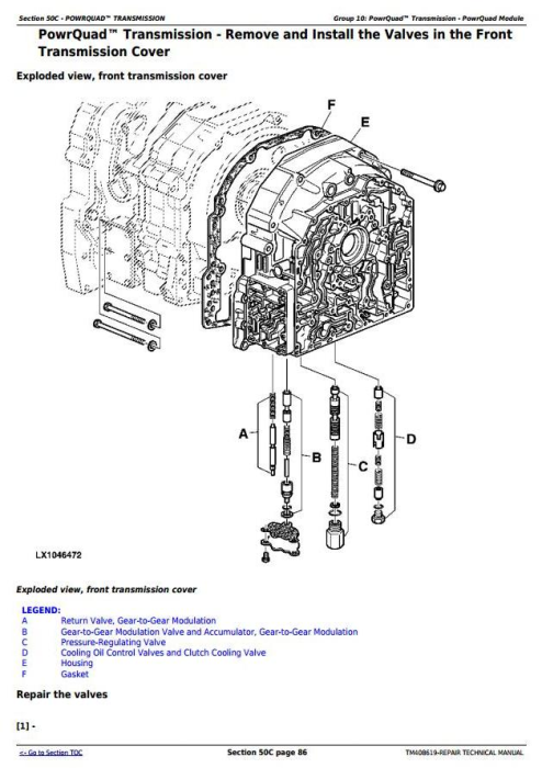 Fourth Additional product image for - John Deere Tractors Models 6145M, 6155M, 6175M, 6195M Tier 2 Service Repair Technical Manual (TM408619)