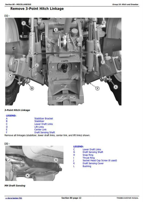 Fourth Additional product image for - John Deere 6105E, 6120E, 6135E Final Tier IV (from 10.2015) Tractors Service Repair Manual (TM608619)