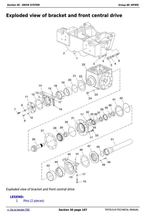 Third Additional product image for - Deere Tractors 500, 504, B550 and B554 (China) All Inclusive Technical Service  Manual (TM701519)