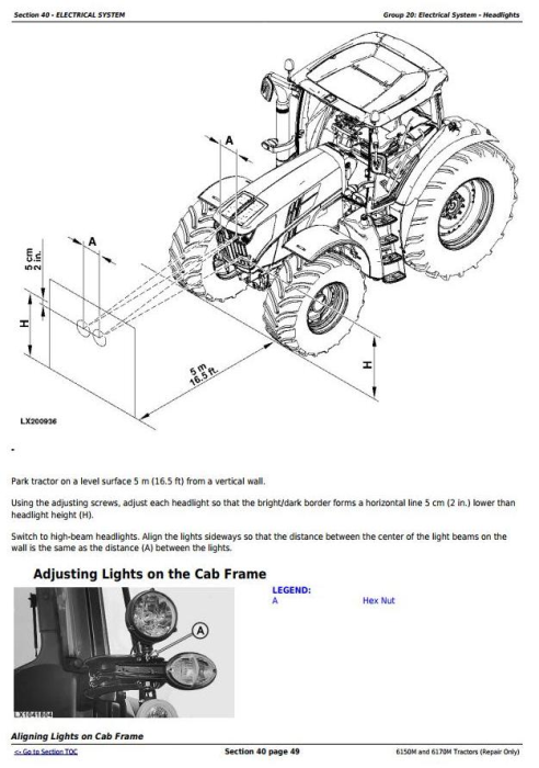 Fourth Additional product image for - John Deere 6150M and 6170M 2WD or MFWD Tractors Service Repair Technical Manual (TM405919)