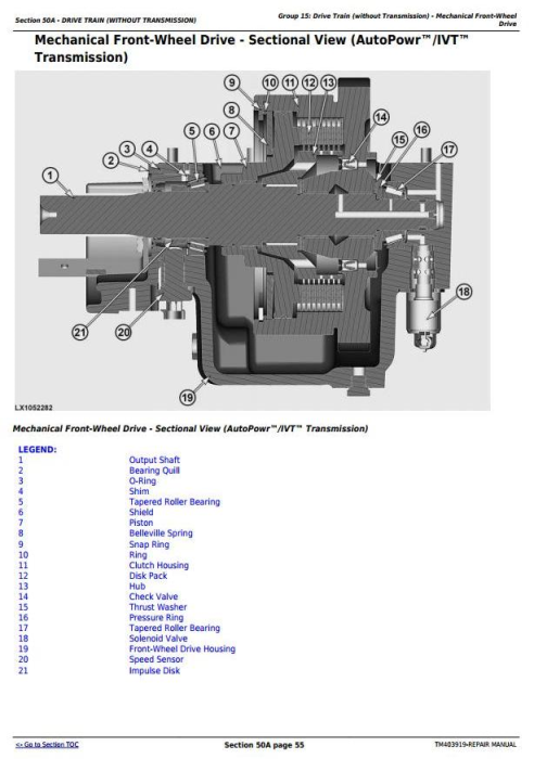 Second Additional product image for - John Deere 6140R, 6150R, 6150RH, 6170R, 6190R, 6210R, 6210RE Tractor Service Repair Manual (TM403919)