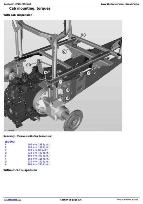 Fourth Additional product image for - John Deere 6140R, 6150R, 6150RH, 6170R, 6190R, 6210R, 6210RE Tractor Service Repair Manual (TM403919)