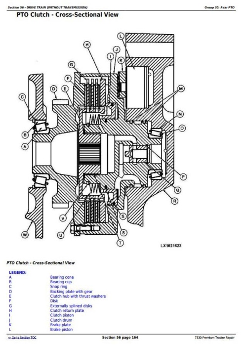 Second Additional product image for - John Deere 7330 Premium 2WD or MFWD USA Tractors Repair Manual (TM400219)