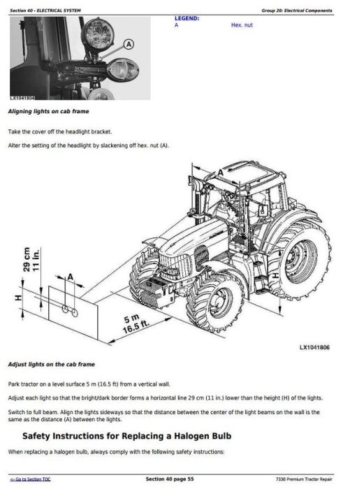 Fourth Additional product image for - John Deere 7330 Premium 2WD or MFWD USA Tractors Repair Manual (TM400219)