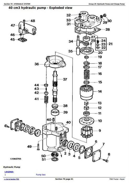 Fourth Additional product image for - John Deere 7505 Tractor - 2WD or MFWD Service Repair Technical Manual (tm4868)