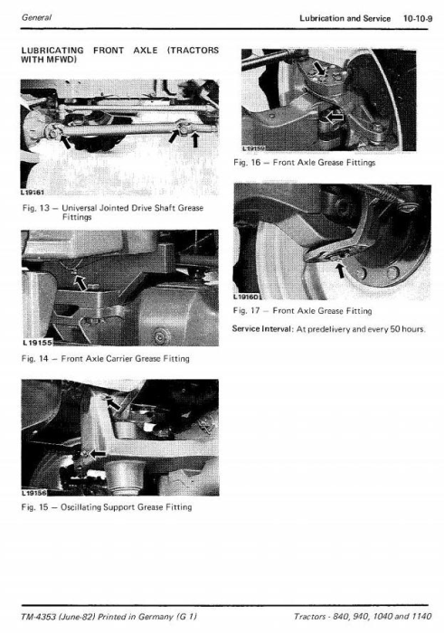 Second Additional product image for - John Deere 840, 940, 1040 & 1140 Tractors Technical Service Manual (tm4353)