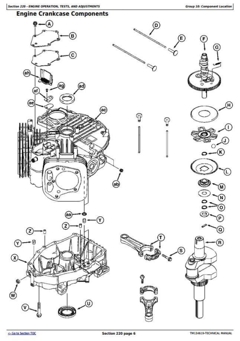 Third Additional product image for - John Deere S240 Riding Lawn Tractor (North America) All Inclusive Technical Service Manual (TM134619)