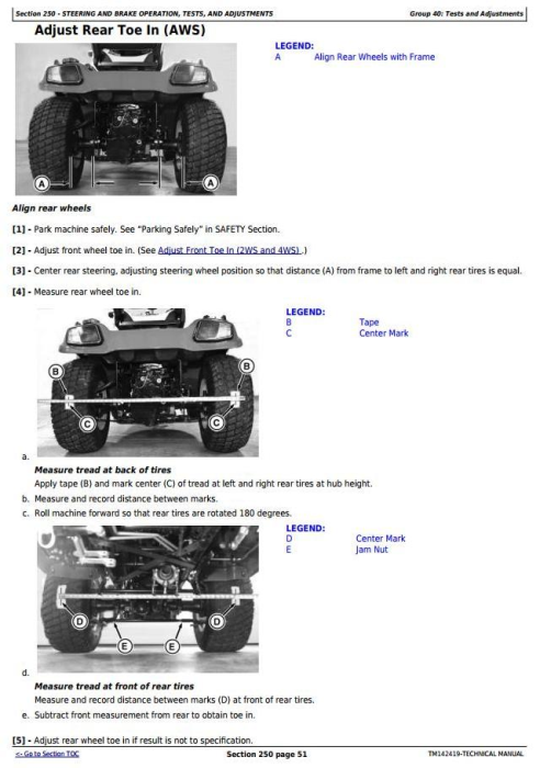 Fourth Additional product image for - John Deere X750, X754, X758  Signature Series Tractors (SN.040001-) Technical Sevice Manual (TM142419)