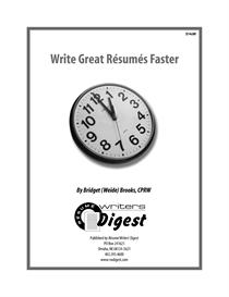 write great resumes faster (survey respondent & previous buyer)